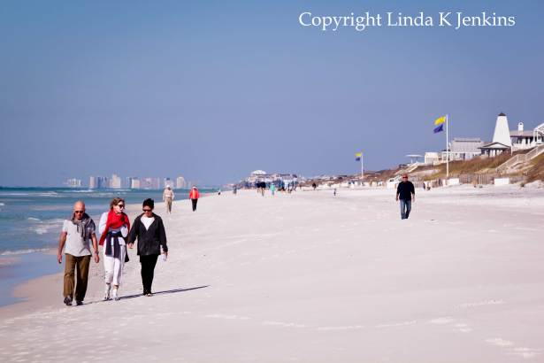 Seaside Florida Beaches with Destin in the background.